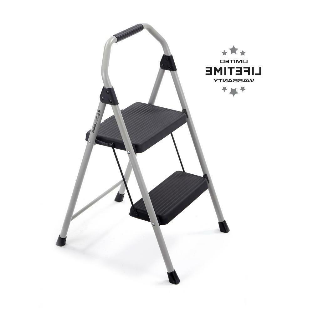 2 step compact steel step stool 225