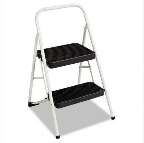 2 step folding steel step stool 200lbs