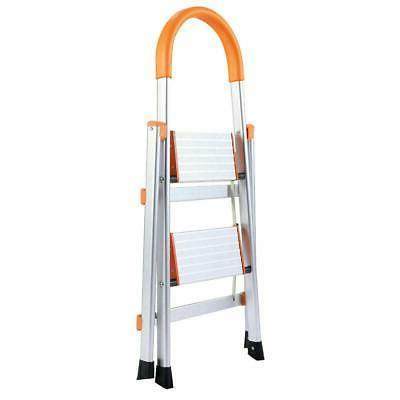 2 Step Aluminum Folding Home Ladder Step