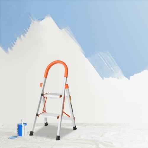2 Step Ladder Aluminum Folding Step Stool