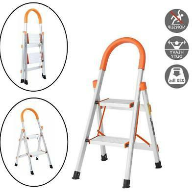 2 step ladder aluminum folding home ladder