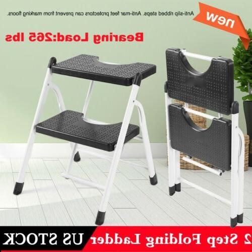 2 step ladder non slip big platform
