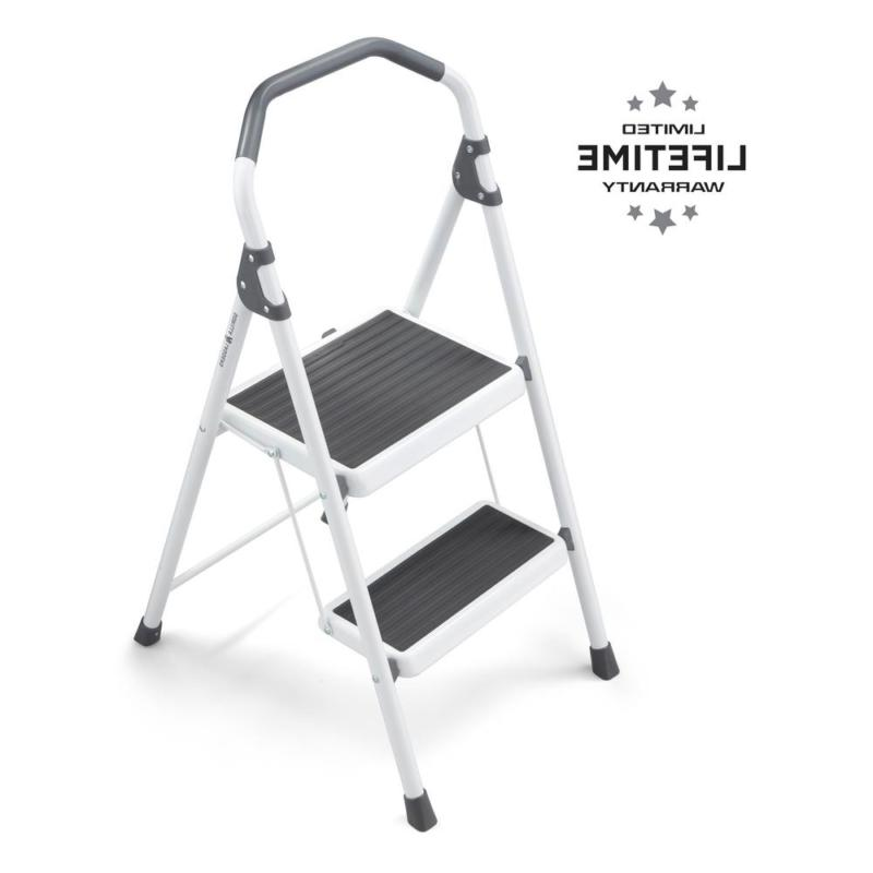 2 step steel lightweight stool ladder 225