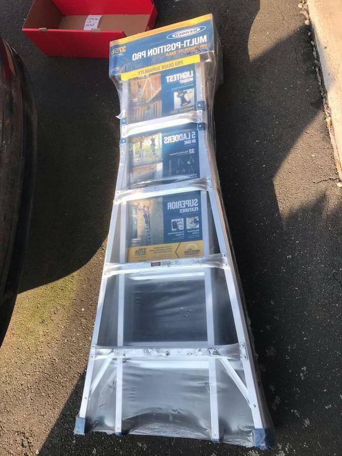 22 ft aluminum multi position ladder