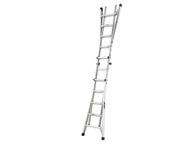 22 ft. Aluminum Telescoping Multi-Position Ladder with 300 l
