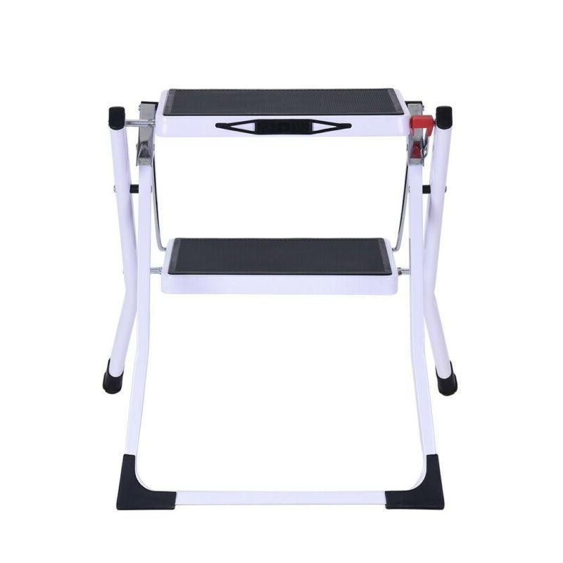 Portable 2 Folding Steel Ladder Sturdy Pedal US