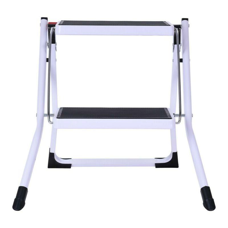 Portable Folding Step Stool Ladder Wide Pedal US
