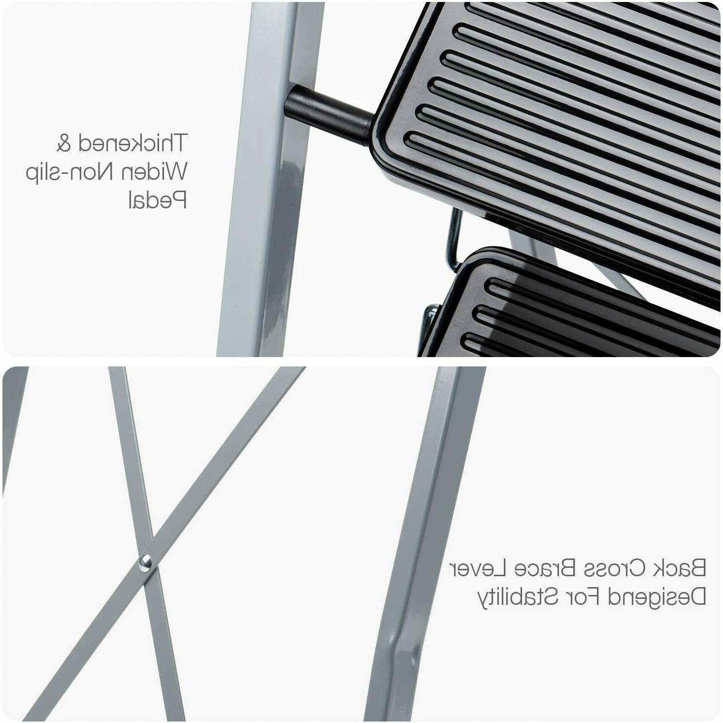 3 4 Step Ladder Folding Stool w/ Pedal -