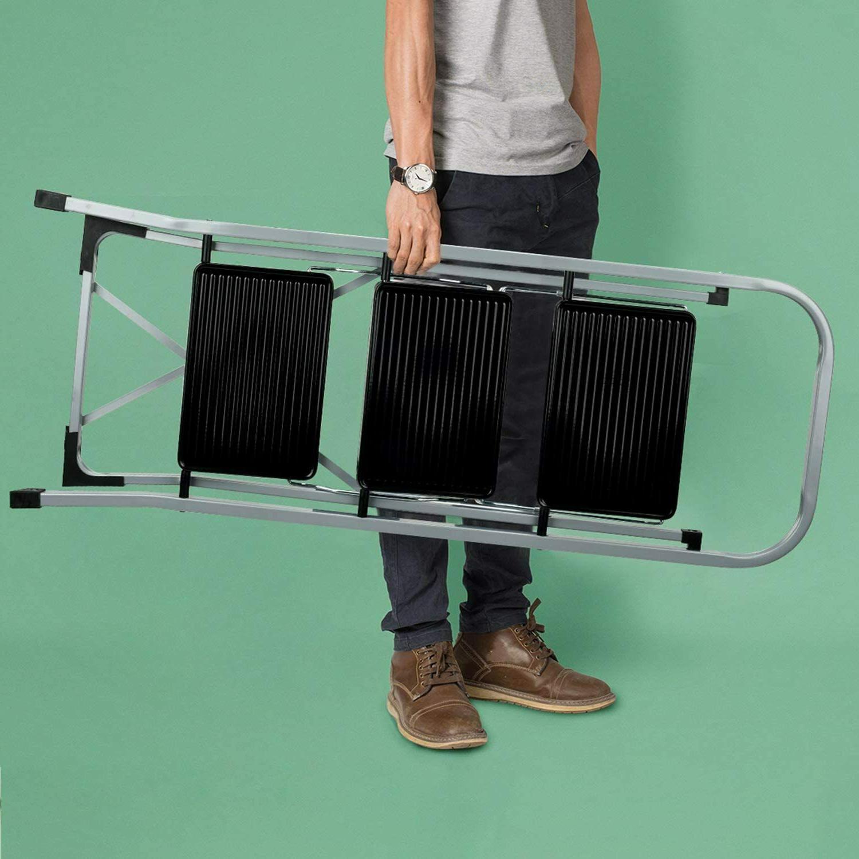 3 Ladder Folding w/ Wide Pedal -