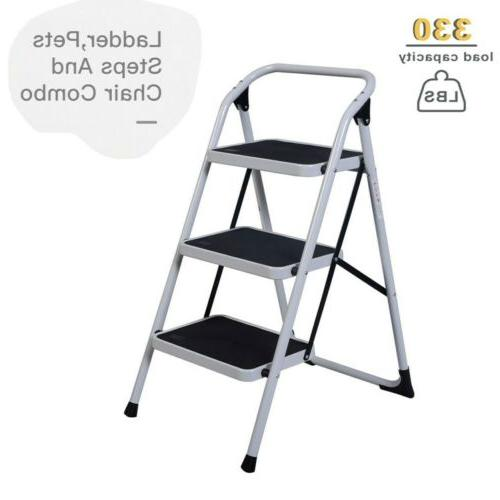 Protable Step Ladder Folding Non Slip Safety Tread Heavy Duty Home