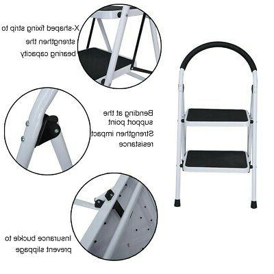 Anti-slip Steps Folding Stool Duty Capacity