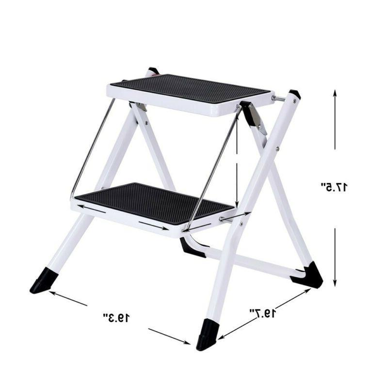 portable 2 step ladder folding step stool