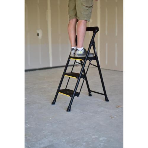 3-Step PRO-Grade Steel Stool Ladder 300 lb Capacity