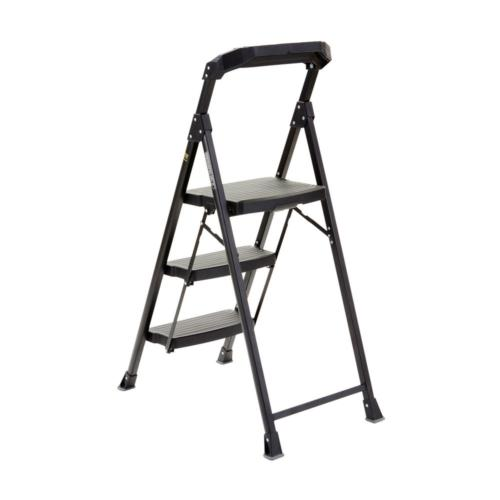 3-Step PRO-Grade Steel Stool Ladder Work 300 lb