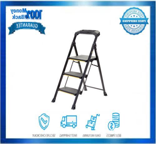 3 step pro grade steel stool ladder