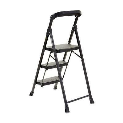 Gorilla Ladders 3 Stool Ladder Grade Black