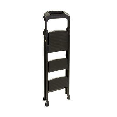 Gorilla Ladders 3 Stool Folding Pro Grade Steel Black