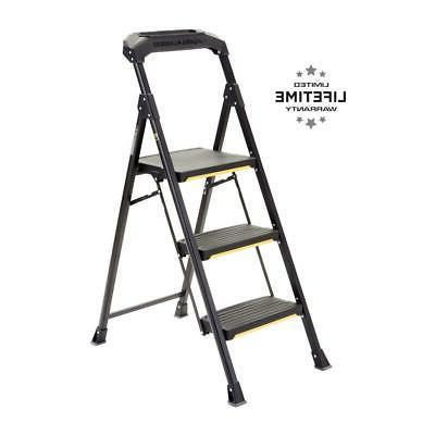 3 step stool ladder folding pro grade