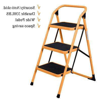3 steps ladder stool folding ladder safety