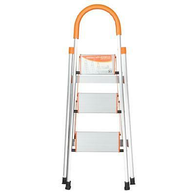 Protable 3 Ladder Folding Non Slip Safety Tread Industrial Home Load