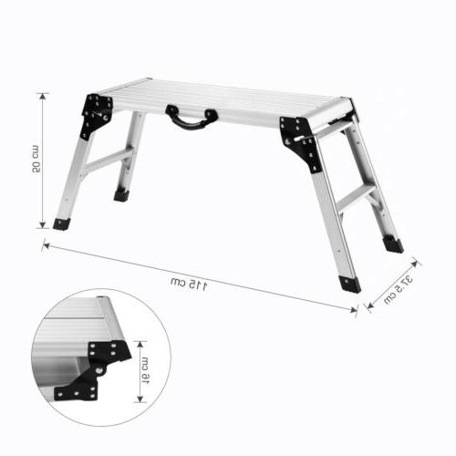 Aluminum Platform Drywall Step Up Folding Work Bench Stool L