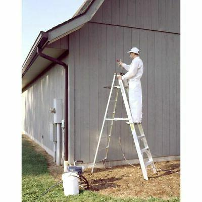 WERNER 8 ft Aluminum lb Capacity Stepladder