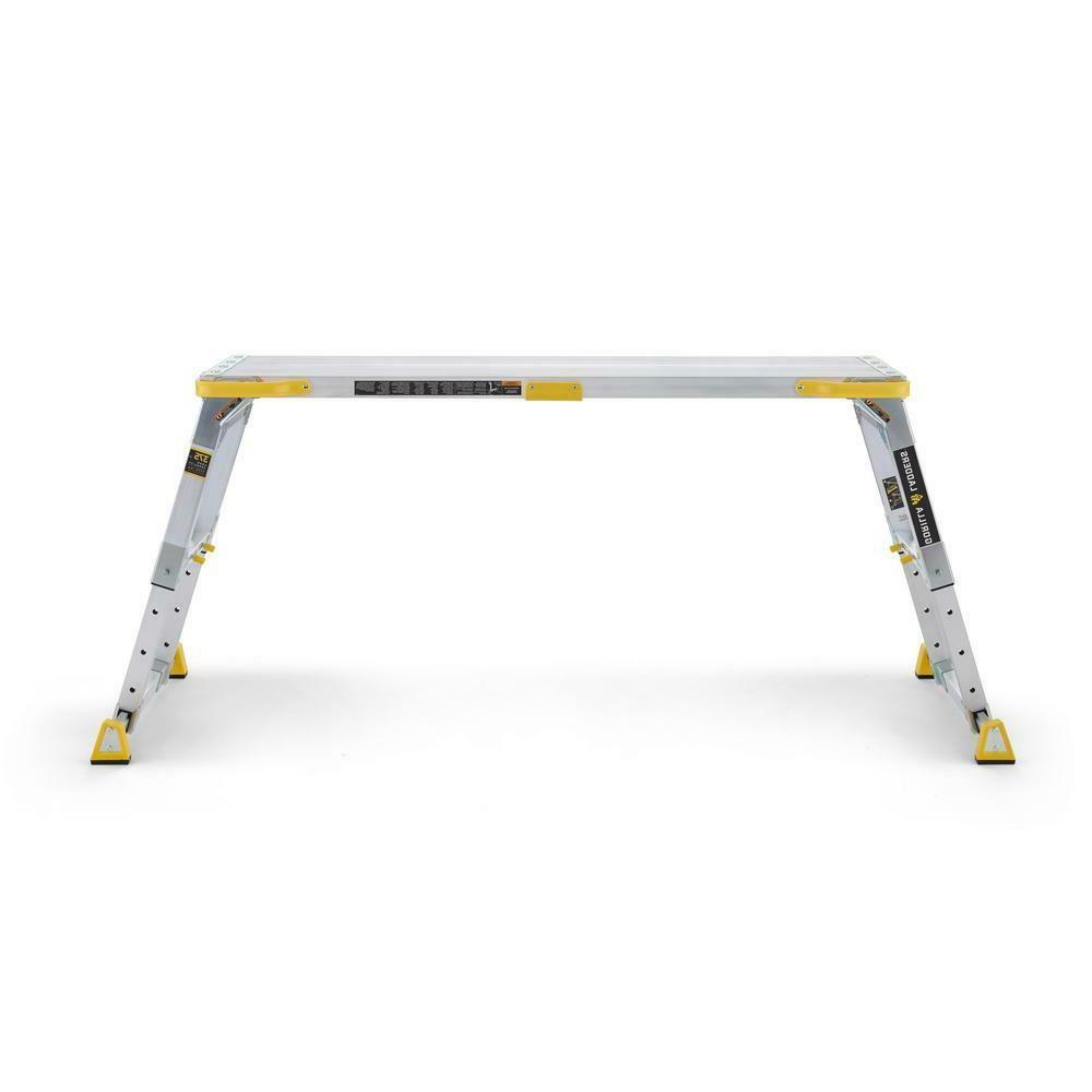 Gorilla Ladders x Aluminum Heavy-Duty Adjustable-Height