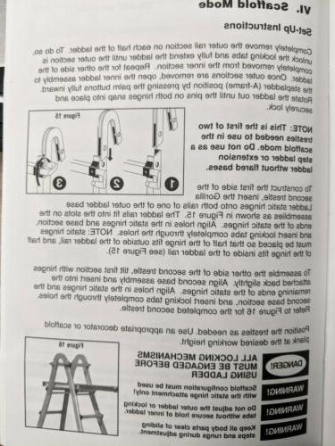 Gorilla Ladders 4-in-1 Aluminum Static Hinge Adapter Kit Scaffold