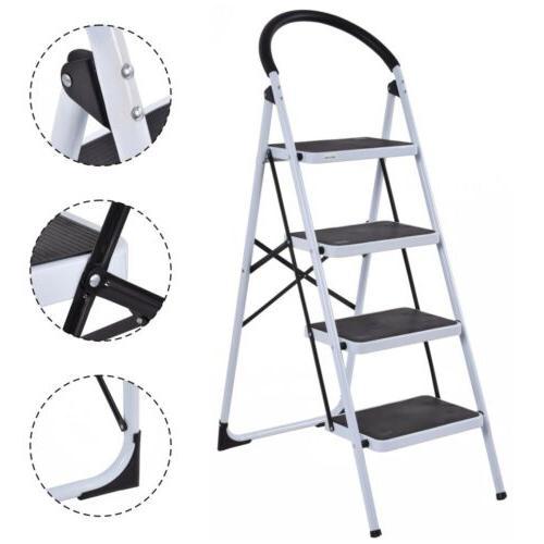 4 step ladder folding steel step stool