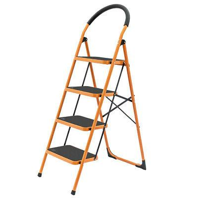 High- Quality 4 Step Ladder Folding Steel Step Stool Anti-sl