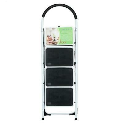 4 Step Ladder Steel Heavy Safety Capacity