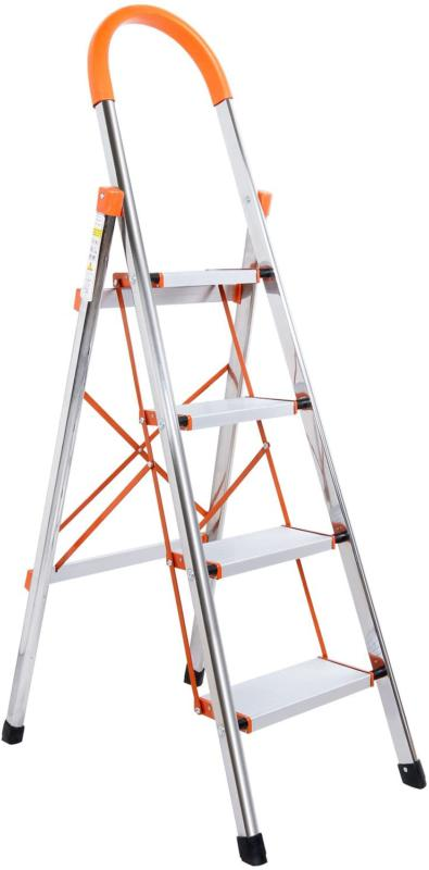 Stool Step Ladder Portable Folding Stepladders Anti-Slip Rub
