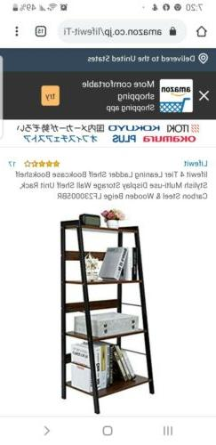 lifewit 4 Tier Leaning Ladder Shelf Bookcase Bookshelf Styli