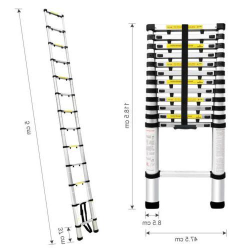 16.4 ft 5M Telescopic/Telescoping Loft Multi-Purpose Ladder
