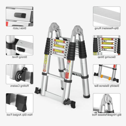 16.5FT Telescoping Ladder Aluminium Folding Ladders