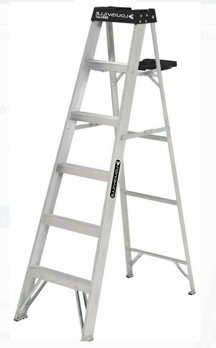 6 Foot Aluminum Stepladder Ladder 250 lb Capacity Type I Lou
