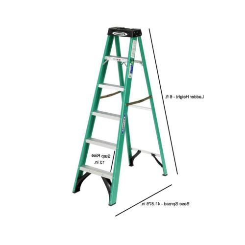 6 ft. Fiberglass Step Ladder Load Type II Duty