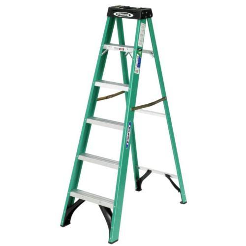 6 ft. Fiberglass Ladder with 225 Load Type Duty
