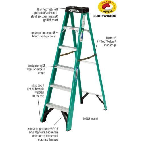 6 Fiberglass Ladder 225 lb. Load