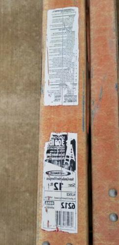 WERNER #6212- 12ft Fiberglass  Step Ladder- Used. Extra Heav