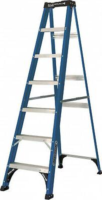 Louisville Ladder 7-Foot Fiberglass Step Ladder, 225-Pound C