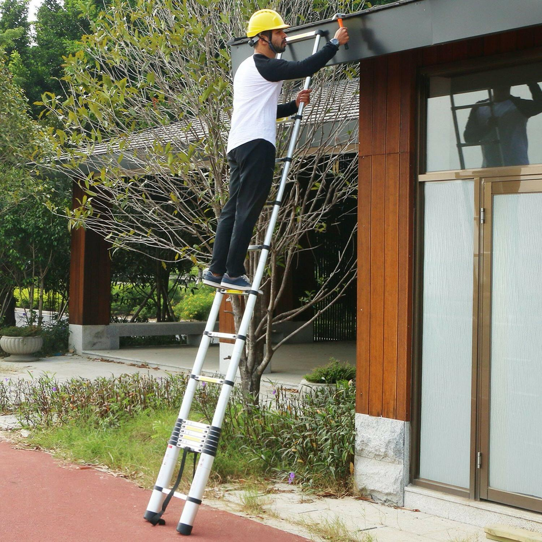 8.5/10.5/12.5/15.5 Telescoping Telescopic Extension Loft Ladders