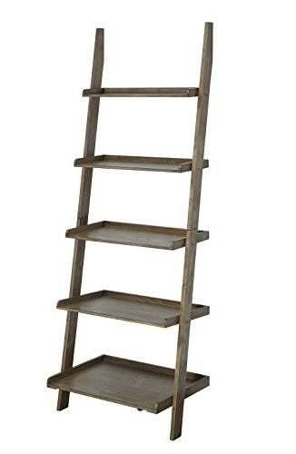 Convenience Concepts 8043391DFTW American Heritage Bookshelf Ladder