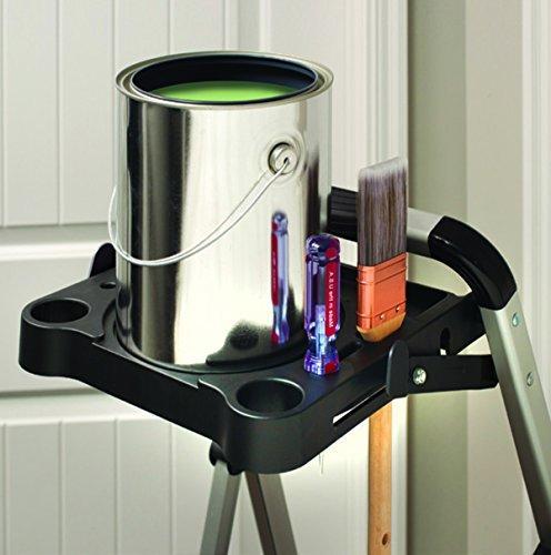 Rubbermaid Ultra Light Aluminum Step Stool with Project Tray, Capacity, Grey Finish