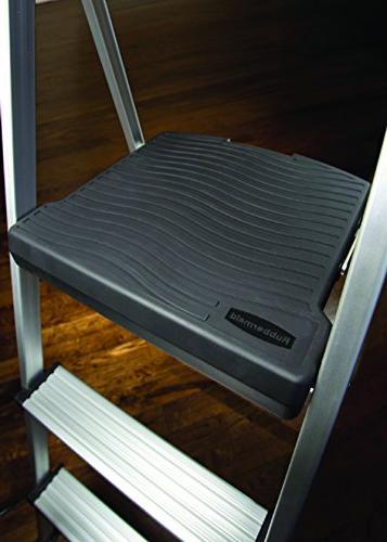 Rubbermaid RM-SLA3-T 3-Step Light Step Stool with Tray, 225-Pound Capacity, Finish
