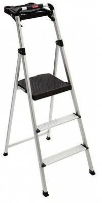 Rubbermaid Rm Sla3 T 3 Step Ultra Light Aluminum Step Stool