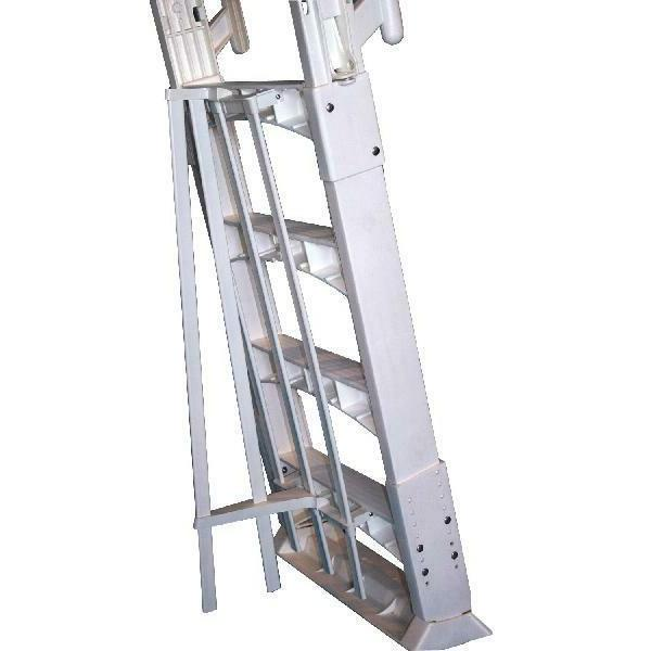"Vinyl Works A Frame Ladder Barrier Swimming Pools 56"" Tall White"