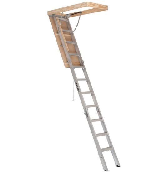Louisville Ladder AA2210 Elite Aluminum Attic Ladder Type IA