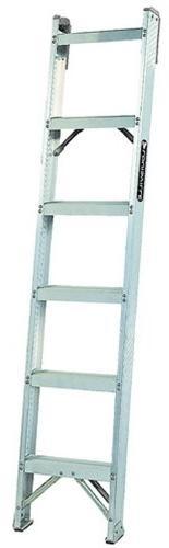 AH1000 Series Master Aluminum Shelf Ladders - 6' aluminum ma
