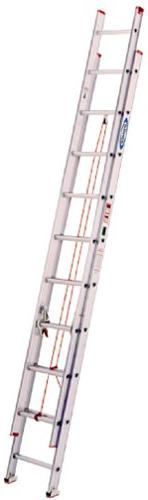 Werner 20 ft Aluminum Extension Ladder with 200 lb. Load Cap